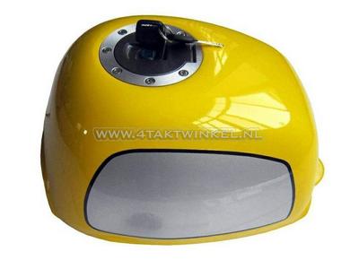 Tank, Gorilla, flat fuel cap, yellow