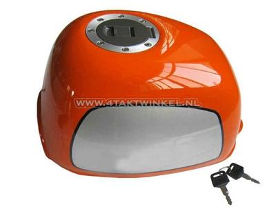 Tank, Gorilla, flat fuel cap, orange