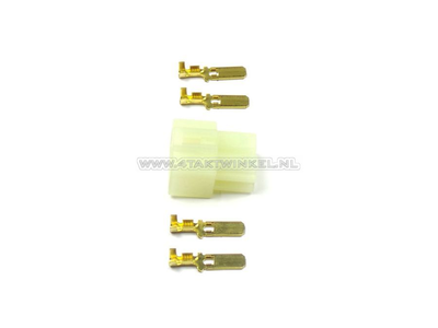 Connector Japanese, housing Connector 6.3 mm 4-pin male