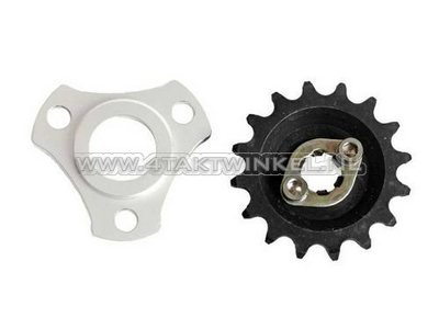 Front sprocket with offset and rear sprocket spacer 7mm