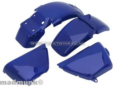 Mudguard set, Ape 50, Ape 125, with caps, blue