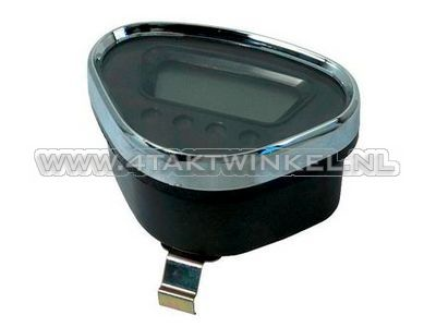 Speedometer Dax digital, black with chrome edge