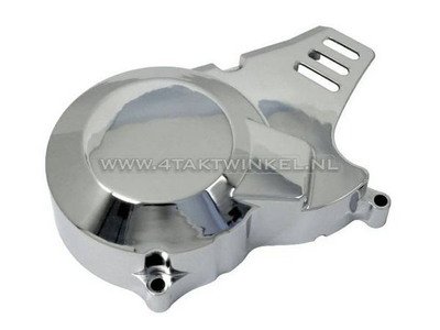 Ignition cover CDI universal, chrome, type 2