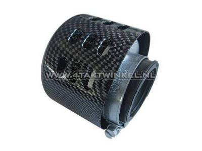 Power filter 35mm, straight, carbon cap, spherical