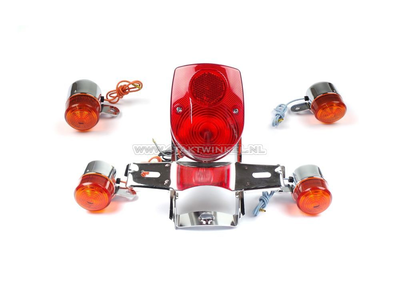 Taillight and indicator set, Dax old style, red