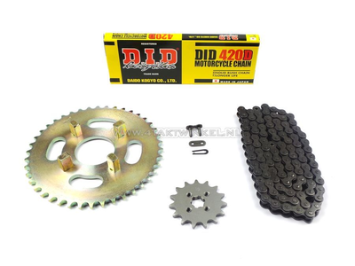 Sprockets and chain set, CY50 standard +2