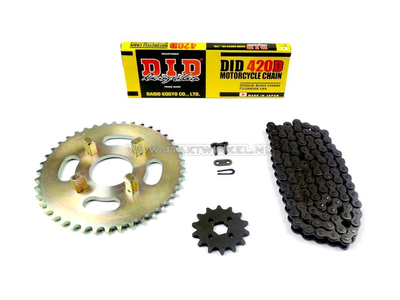 Sprockets and chain set, CY50 standard +1