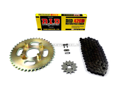 Sprockets and chain set, CY50 standard