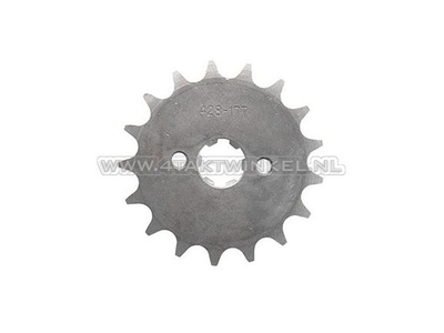 Front sprocket, 428 chain, 17mm shaft, 17, Mash, AGM, Hanway