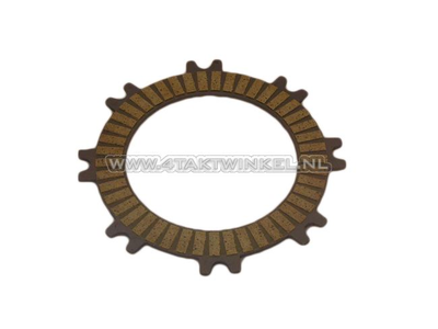 Clutch friction plate C50, C70, Dax, double coated, with forks, original Honda