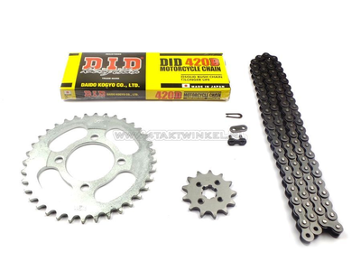 Sprockets and chain set, C310, C320, 13 - 36