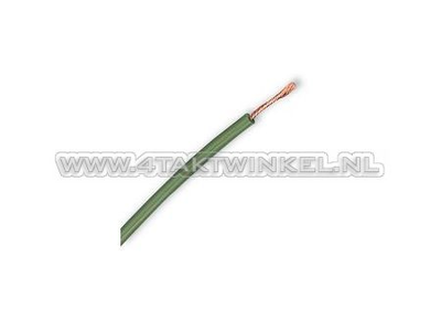 Wire per meter 0.75mm2, green