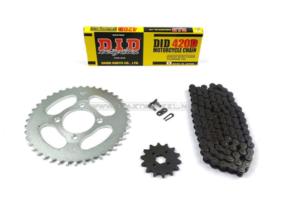 Sprockets and chain set, CD50 standard +2