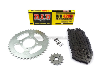 Sprockets and chain set, CD50 standard +1