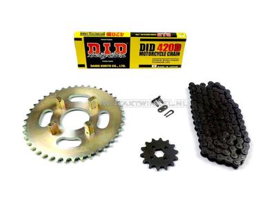 Sprockets and chain set, CB50j standard +2