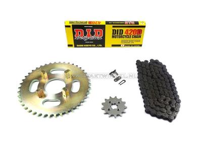 Sprockets and chain set, CB50j standard +1