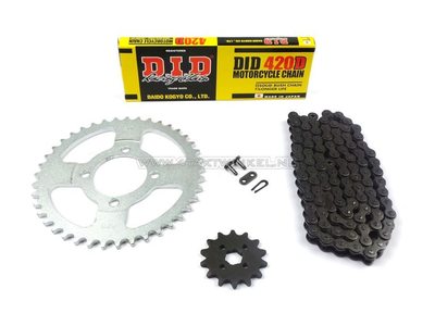 Sprockets and chain set, C50 standard + 2