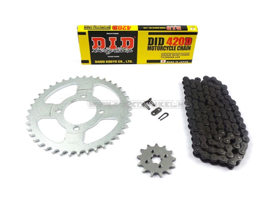 Sprockets and chain set, C50 standard + 1