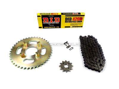 Sprockets and chain set, CB50j standard