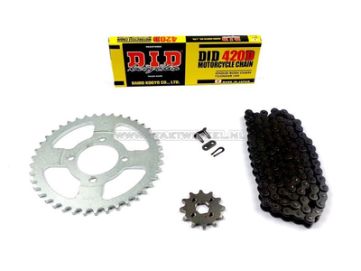 Sprockets and chain set, C50 standard