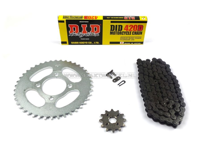 Sprockets and chain set, CD50 standard
