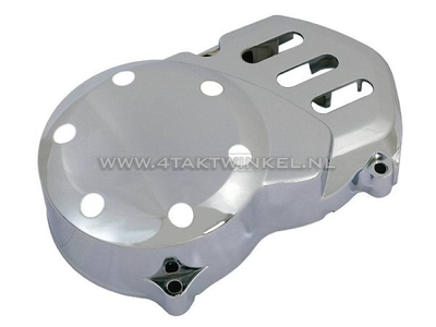 Ignition cover CDI universal, chrome, type 1
