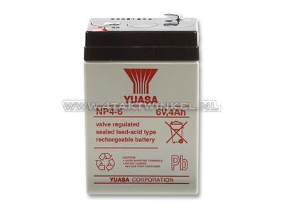 Battery 6 volt 4 ampere, SS50, Dax, gel, universal, Yuasa