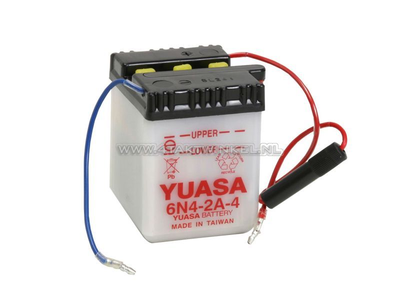 Battery 6 volt 4 ampere, C50, CB50, acid battery, Yuasa
