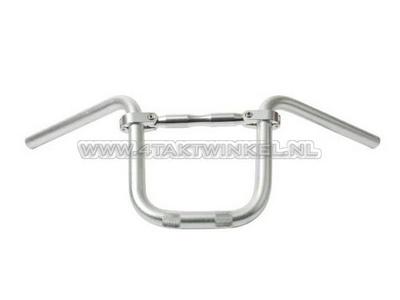 Handlebar aluminum with bar 210mm high, silver