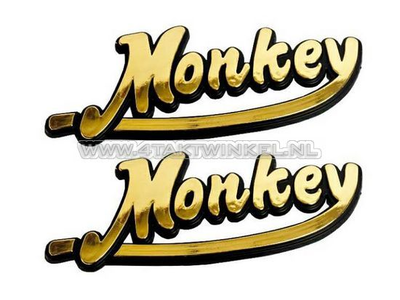 Emblem Monkey, set, gold