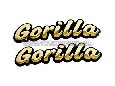 Emblem Gorilla, set, gold