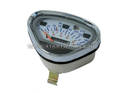 Speedometer Dax up to 140 km/h aftermarket white, with empty tank light