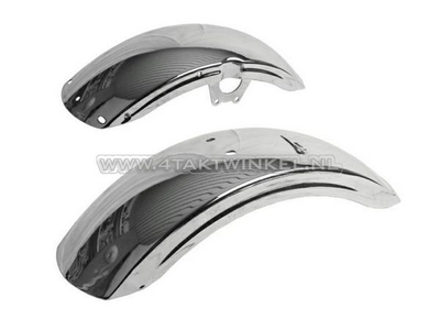 Mudguard set, Dax NT replica ab23 chrome