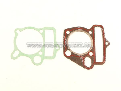 Gasket set A, head & cylinder, basic set: foot & head, 53mm 125cc