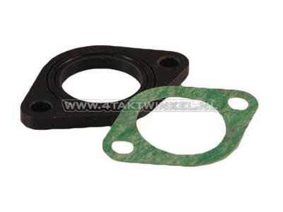 Insulator 26mm wide flange incl. O-ring + gasket, aftermarket