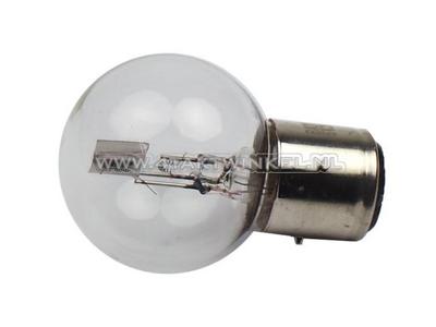 Bulb headlight BA21D, dual, 6 volt, 15-15 watt, Dax 3-pin