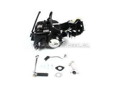 Engine, 50cc, manual clutch, Lifan, 4-speed, black
