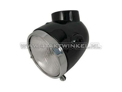 Headlight complete, Monkey Z50a aftermarket, black