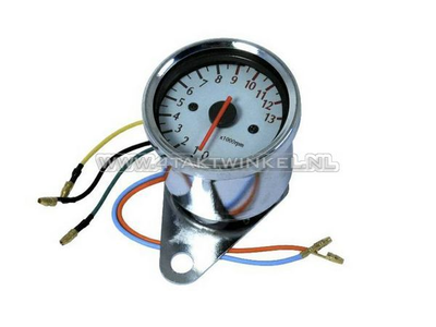 Tachometer universal chrome electronic