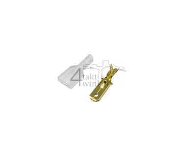 Connector Japanese spade 6.3 mm, man