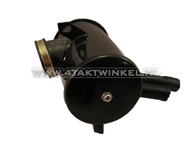 Air filter housing, Dax, complete, black aftermarket