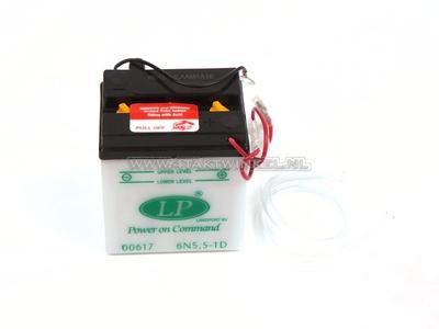 Battery 6 volt 5.5 ampere, C90 OT