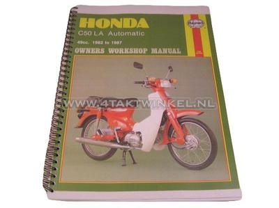 Workshop manual, Honda C50 automatic, copy