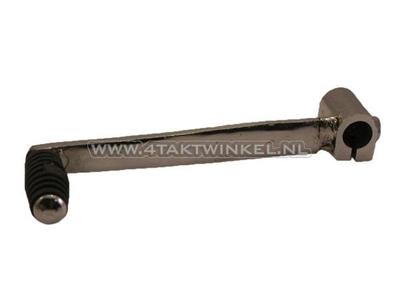 Gear pedal single chrome long attachment