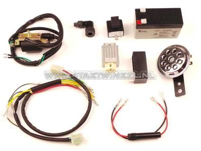 CDI & 12 volt connection set e.g. for conversion 6 volt moped