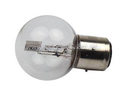 Bulb headlight BA21D, dual, 12 volt, 36-36 watt, Dax 3-pin