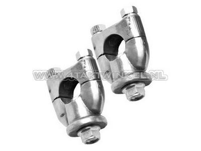 Handlebar clamps / risers, universal, bolts
