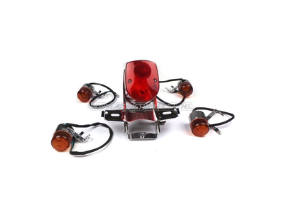 Taillight and indicator set, Dax old style, Skyteam, red