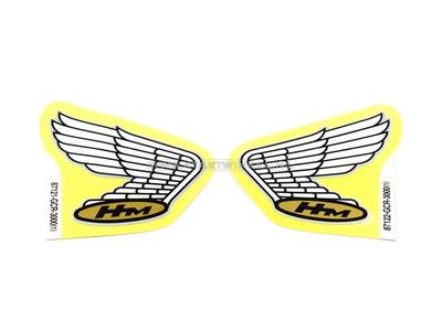 Sticker Honda wing, silver line set left & right, original Honda