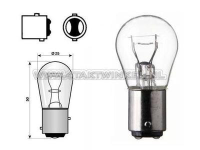 Rear bulb duplo BAY15D, 12 volt, 21-5 watt